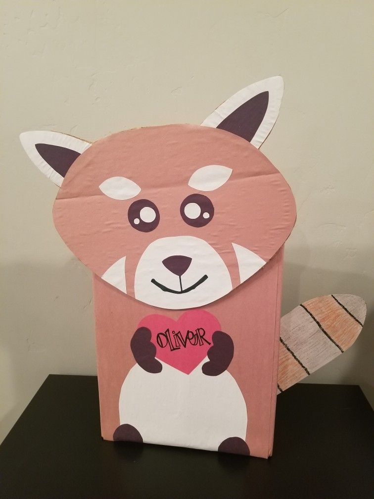 Red Panda Valentine S Box Valentine Card Box Valentine Box Valentine Day Boxes