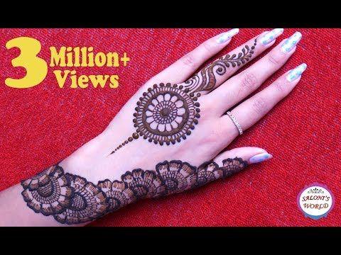 Simple Floral Arabic Henna Mehendi Mandala Gol Tikki Mahandi