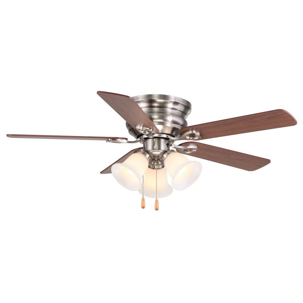 Clarkston 44 In Indoor Brushed Nickel Ceiling Fan With Light Kit Cf544peh Bn Living Room