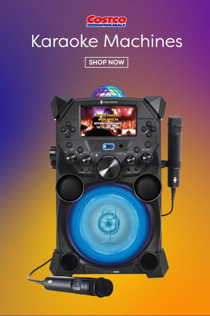 Sing your heart out with this karaoke machine while staying home with family!