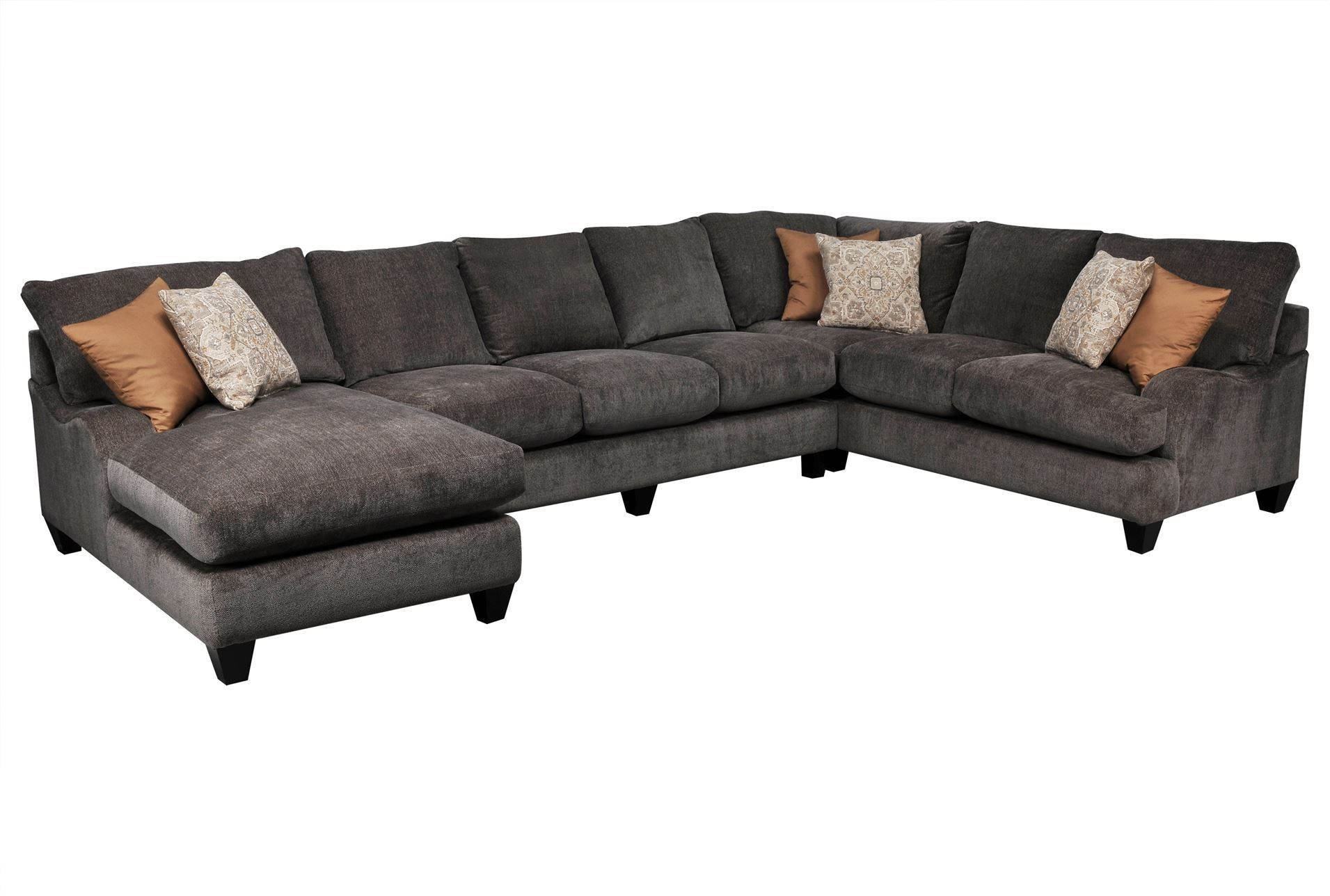 Urban Home Devonshire Sofa Pryce 3 Piece Sectional W Laf Chaise Signature 2 Chaise