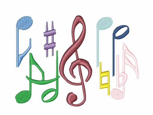Music Notes Embroidery Design Annthegran Free Embroidery Designs