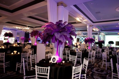 Purple Lavender Lilac Wedding Ostrich Feather Centerpeice