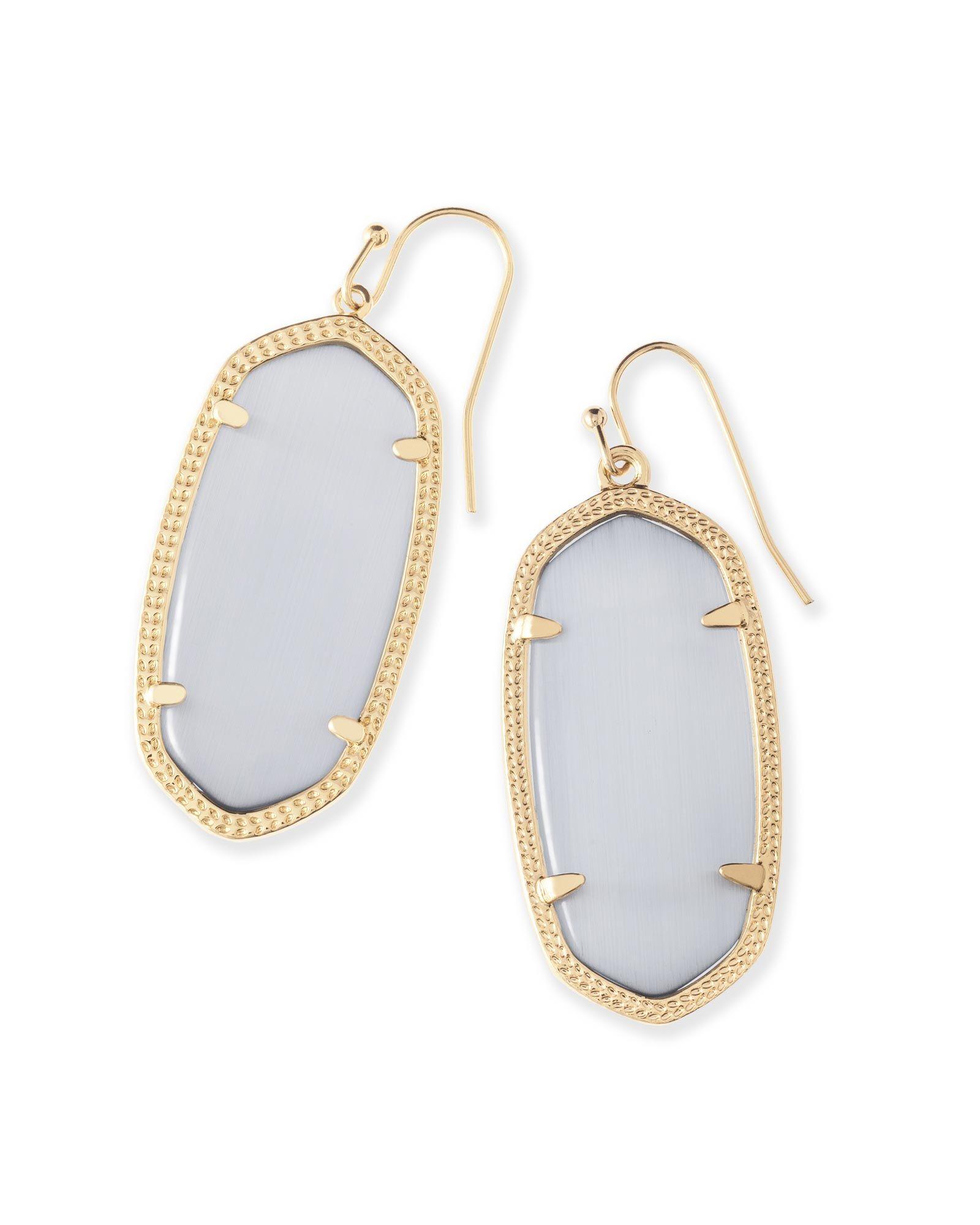 Elle Gold Earrings In Slate Kendra Scott