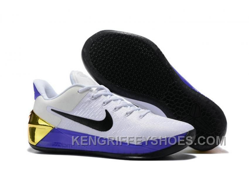 20c50a10bee0 Cheap Nike Kobe A.D. 12 White Black Purple Gold Authentic NkdNT ...