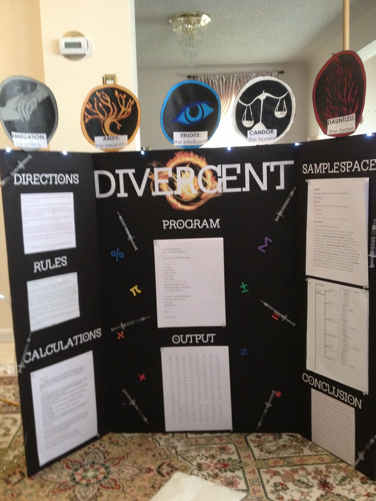 Divergent Series: Photo of math project | Math projects ...