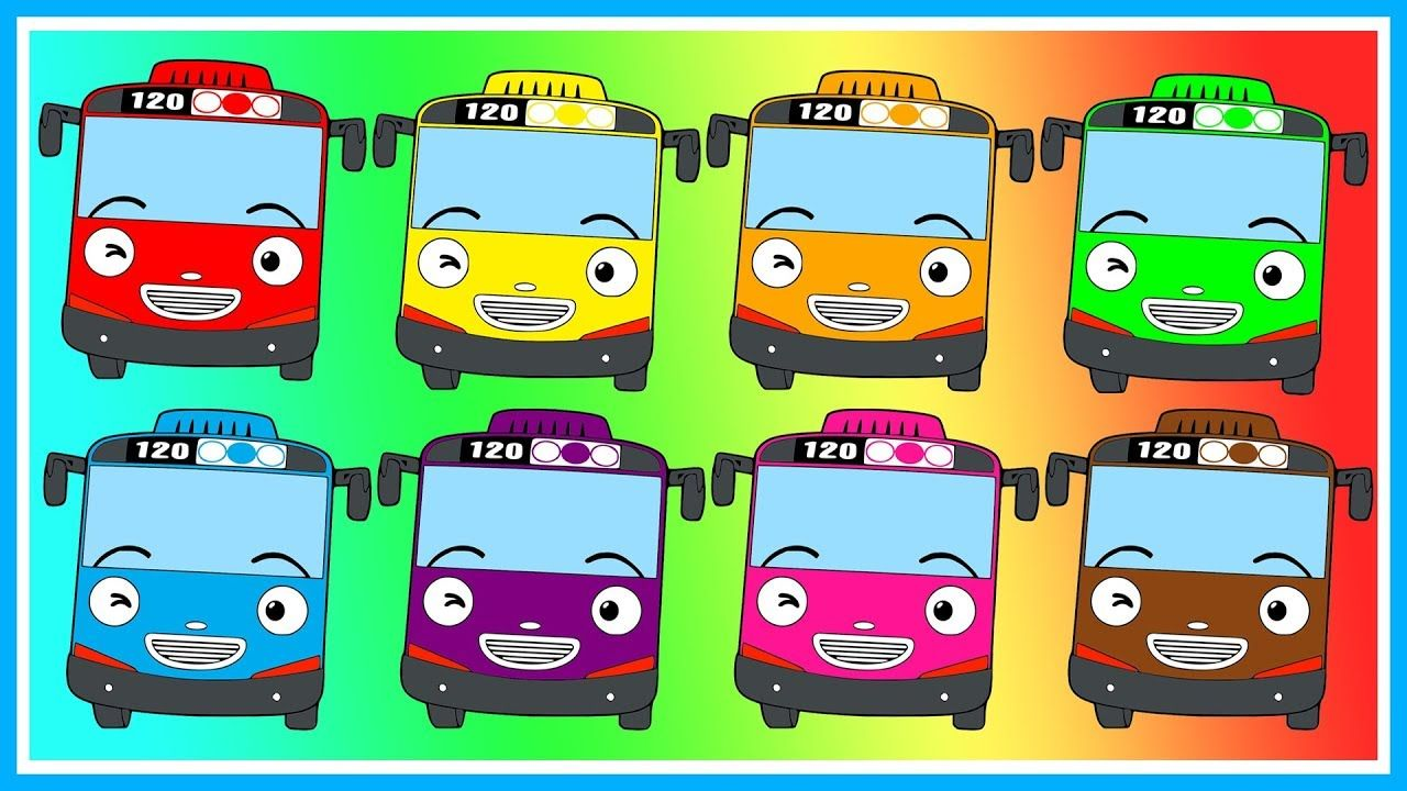 Learn Colors Name With Tayo The Little Bus Belajar Mewarnai Tayo