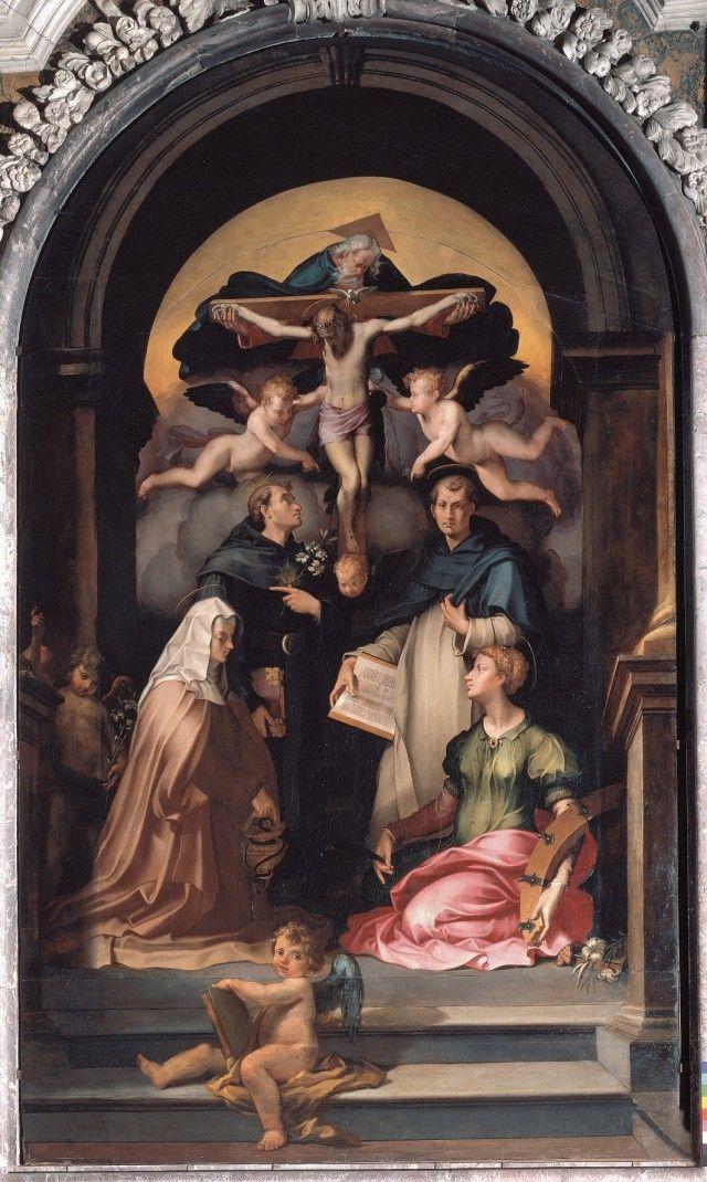 Carlo Portelli, Trinity, 1545 circa. Tavola Firenze, chiesa di Santa Felicita.