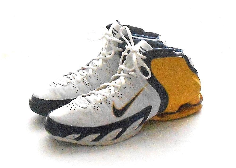 18342e57f3cc Nike Shox Zoom Flight Yellow White Blue High Top Basketball Sneaker Shoe US  12  Nike  AthleticSneakers