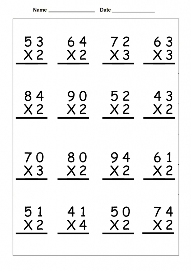 4th Grade Multiplication Worksheets (With images