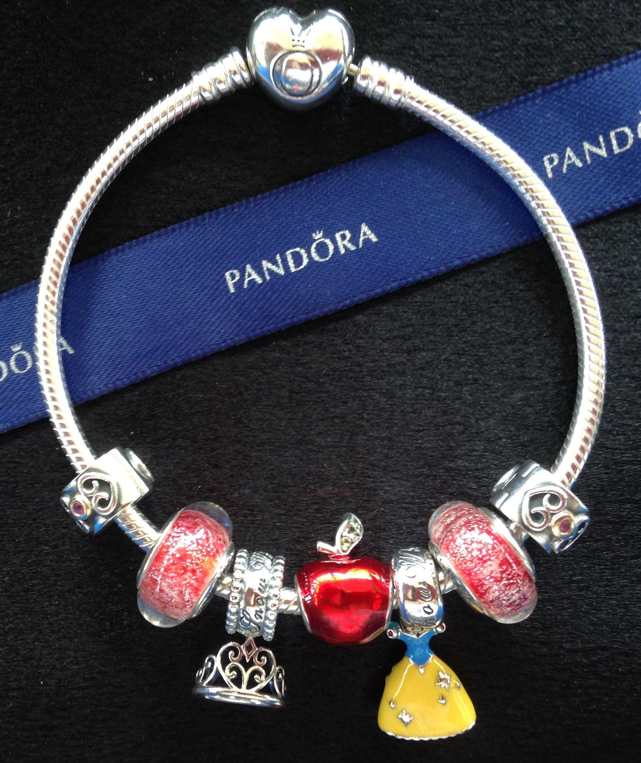 3c80fef2b3f5 Pandora Disney Snow White Tobilleras