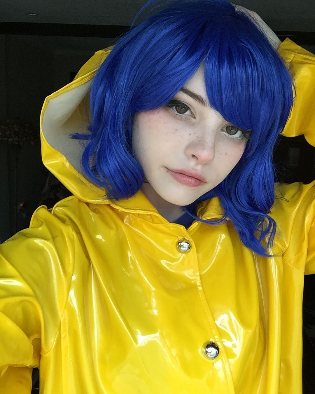 Diy Coraline Costume Ideas Tutorial For Halloween Maskerix Com Coraline Halloween Costume Haloween Costumes Halloween Outfits