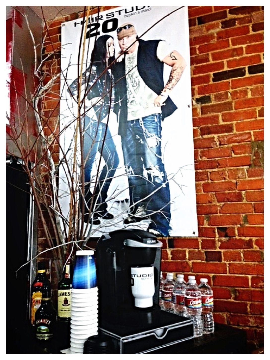 HairStudio20 - Boykin & Marci - www.hairstudio20.com -  Louisville, Ms Keurig Coffee Station #HairStudio20 #boykinsean #seanboykin #marci #marcip #marcipatterson