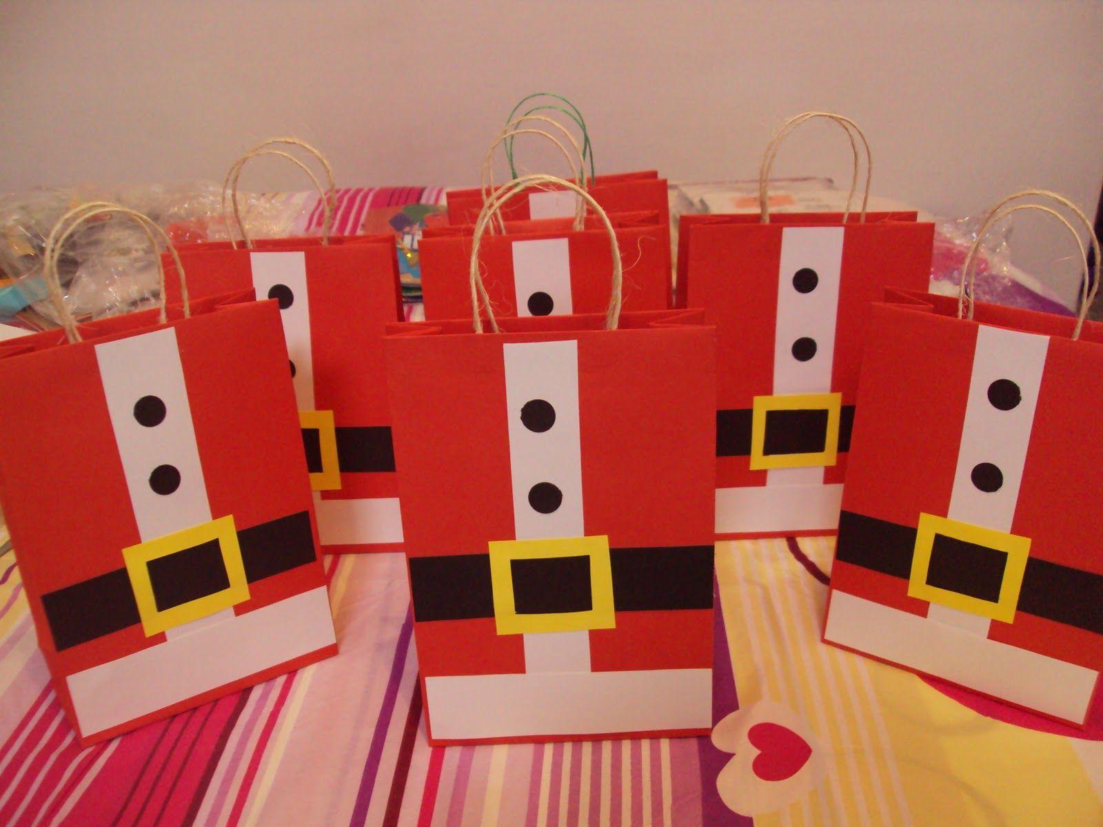 Bolsas De Regalo De Santa Dulceras Pinterest Bolsas De  ~ Regalos Originales Para Navidad Manualidades