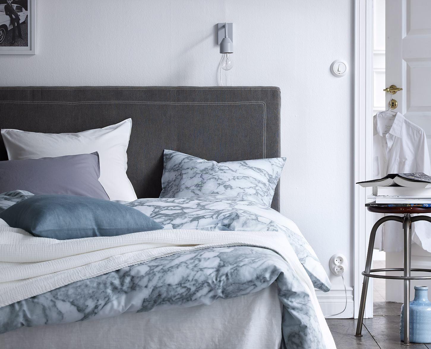 Påslakan marmor #elloshome #påslakan #marmor #sovrum Home Pinterest Sovrum, Drömrum och Sängar