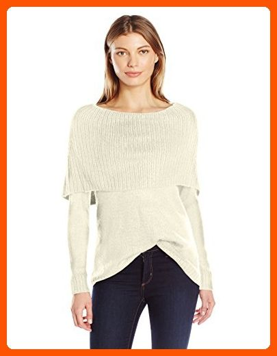 67b2d9c3573 Kensie Women s Tissue Knit Sweater with Cowl Neck