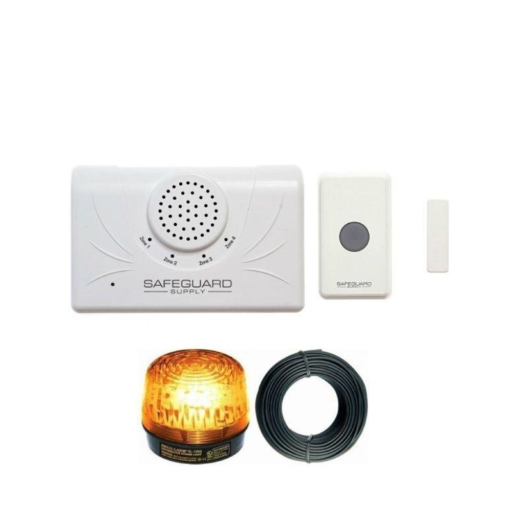 Business Grade Wireless Warehouse Doorbell Or Entry Kit W Strobe In 2020 Wireless Doorbell Strobe Lights Doorbell