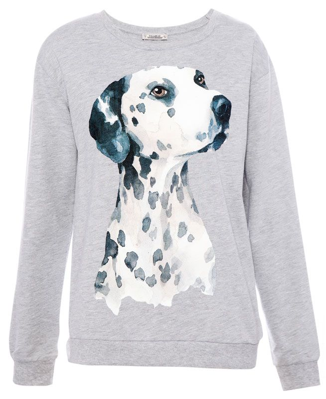 Cool Women S Sweatshirts Pull Bear Turkey Sweatshirts Women Dog Print Spotty Dog