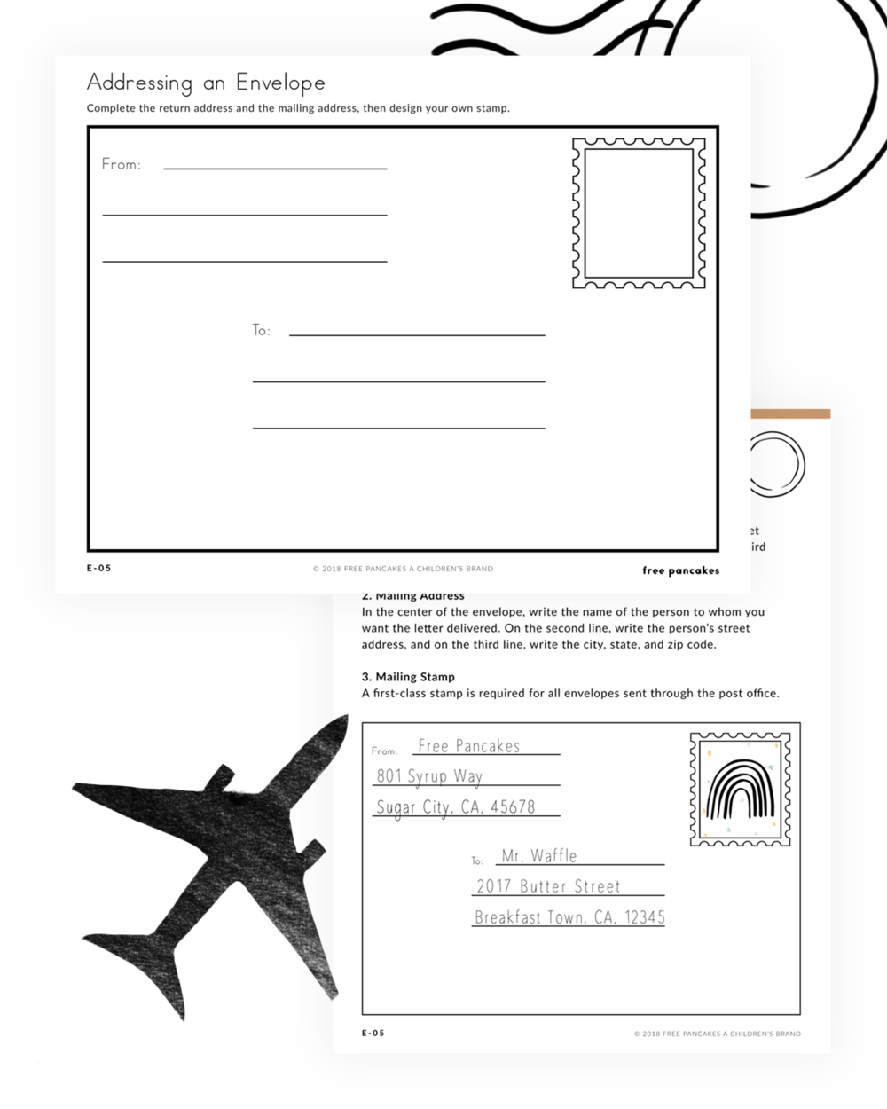 How To Address An Envelope Activity For Kids Addressing Envelopes Letter Formation Printable Activities For Kids [ 1250 x 1000 Pixel ]