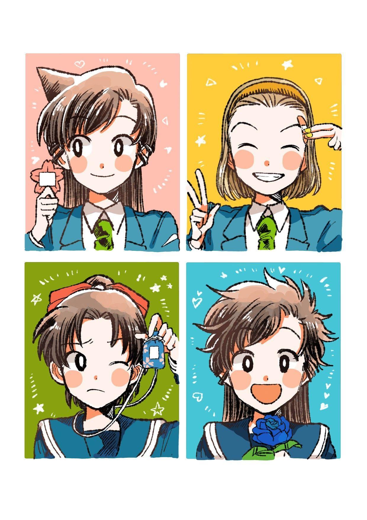 漫画のスケッチ マンガ物語 in 2020 Detective conan wallpapers