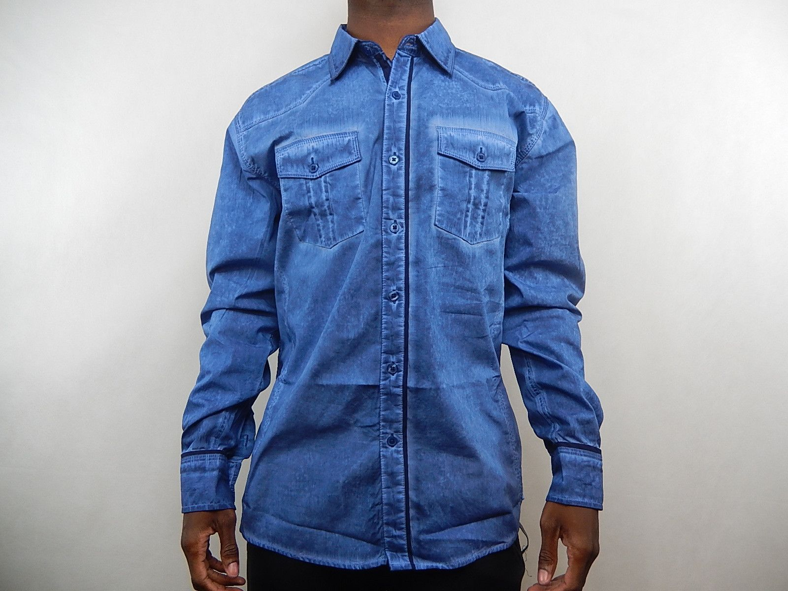 Franky Max Faded Button Up