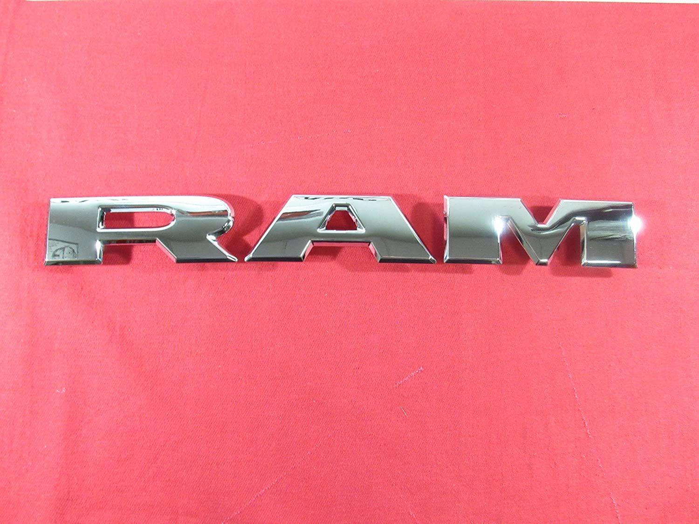 2019 DODGE RAM Chrome RAM Grille Nameplate NEW OEM MOPAR #carexterior