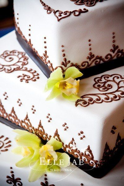 how to make henna designs on cakes