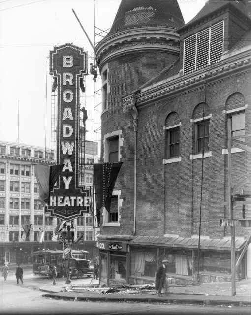 The Former Broadway Theater, Westside Of 9th & Broadway-1920's This