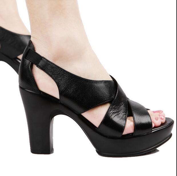 Zapatos negros de punta abierta Petite Mendigote para mujer bslhEFhGT9