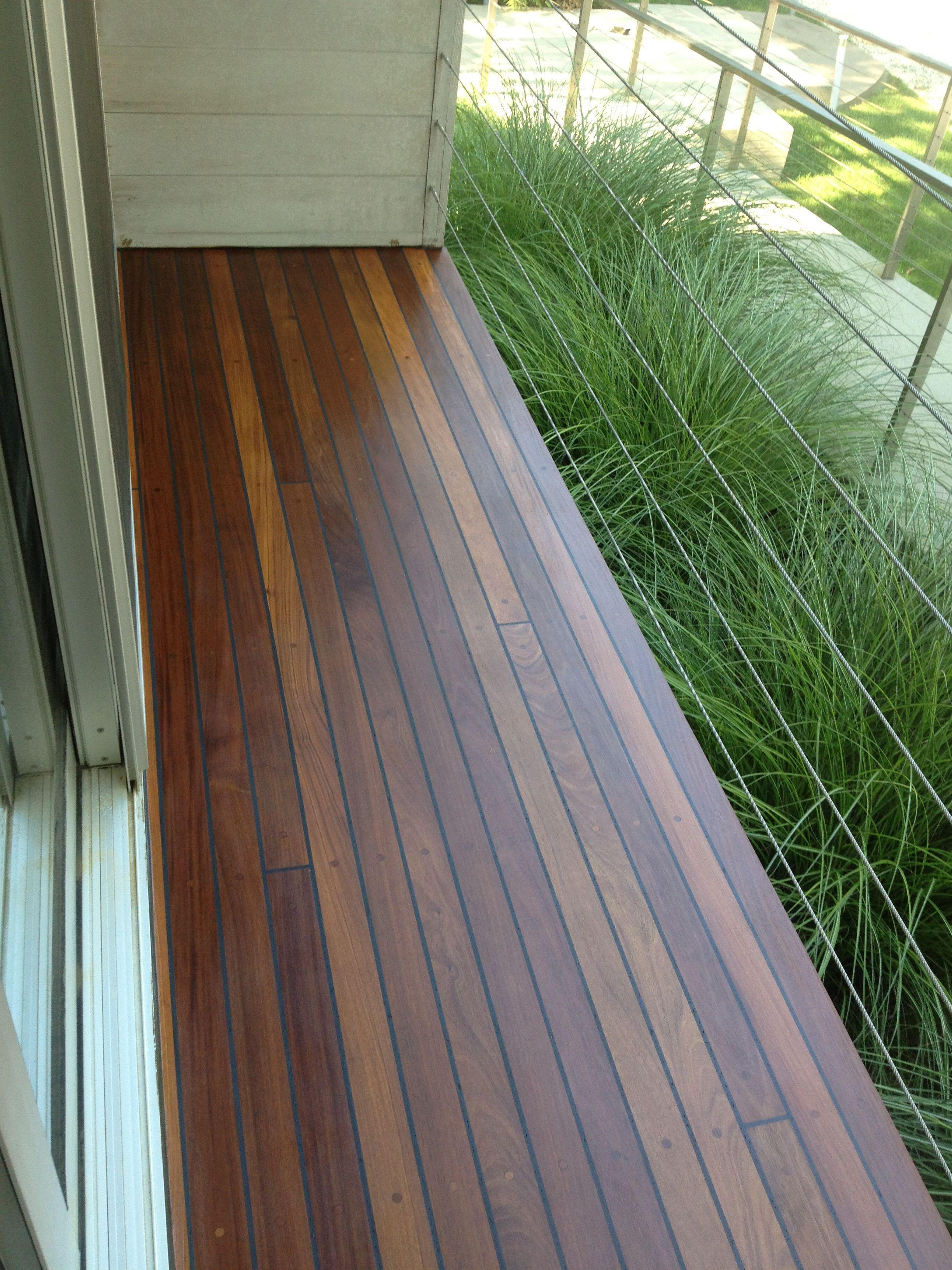 Restored Brazilian Teak Deck Hardwood Decking Wood Floors Deck Restoration