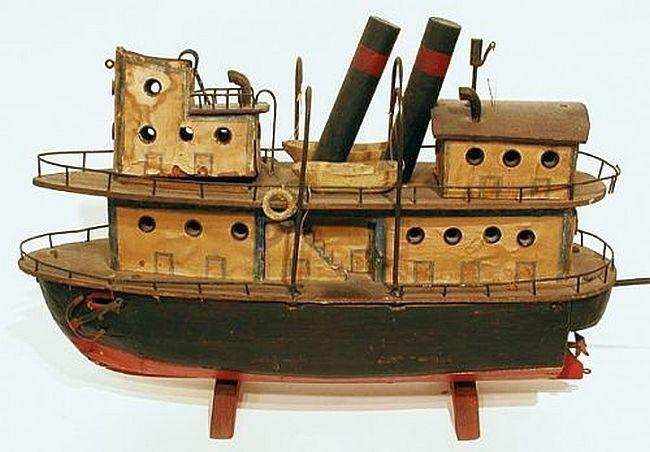 Folk Art, Toy Tug Boat, Americana. | Lovely Old Toys | Pinterest ...