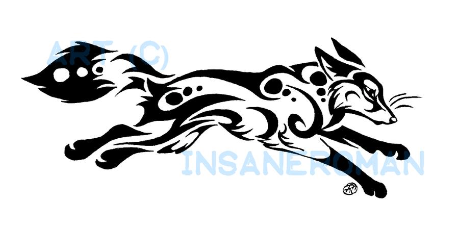 Running Fox Tribal Design By Insaneroman On Deviantart Can Turn Into A Bead Loom Pattern Fox Art Tribal Fox Fox Tattoo Design