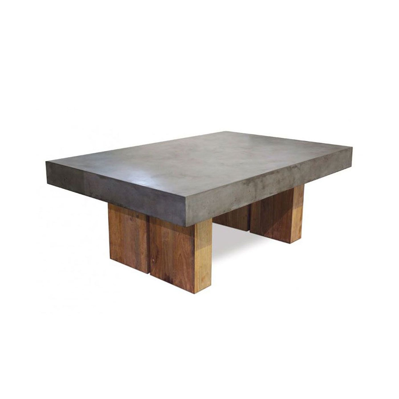 Inspirational Reclaimed Teak And Concrete Dining Table Grey