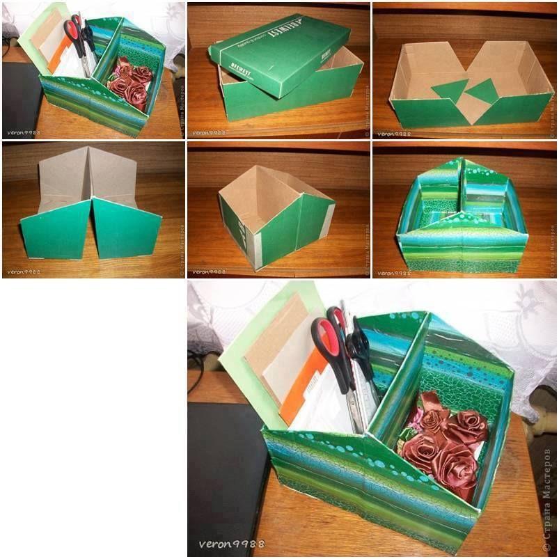 Shoe Box Organizer Craft Organization Diy Shoe Box Crafts Shoe