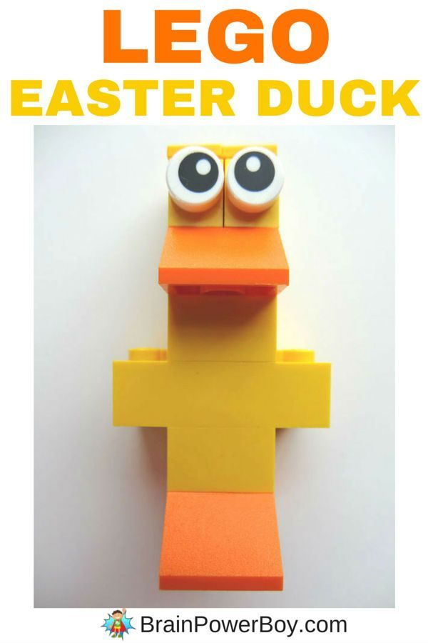 Looking for an easy-to-build Easter LEGO design? Try this funny duck. Isn't he cute? Directions for building the LEGO Easter Duck can be found by clicking the image.