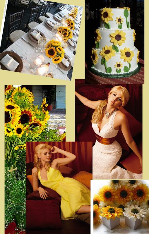d19b593223 Sunflower wedding theme - I wouldn t go quite so overboard with the  sunflowers