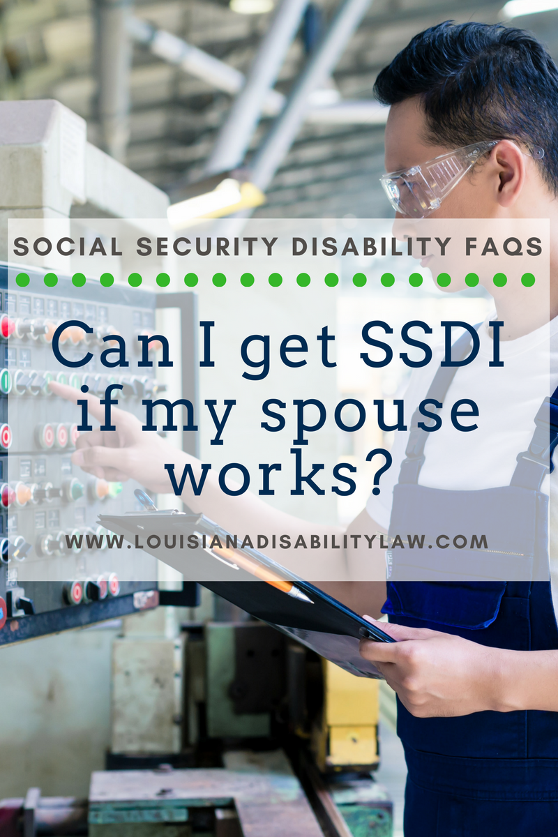 Can I apply for disability benefits if my spouse is