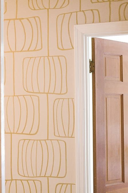 This 60s Esque Print Was Drawn Freehand And Without Measuring Of Course You Can Measure If You Want Get A Diy Wallpaper Stencils Wall Wall Stencil Patterns