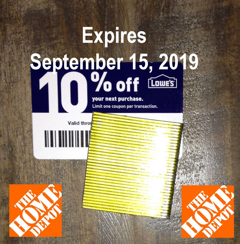 20 lowes 10 blue cards for home depot only expires