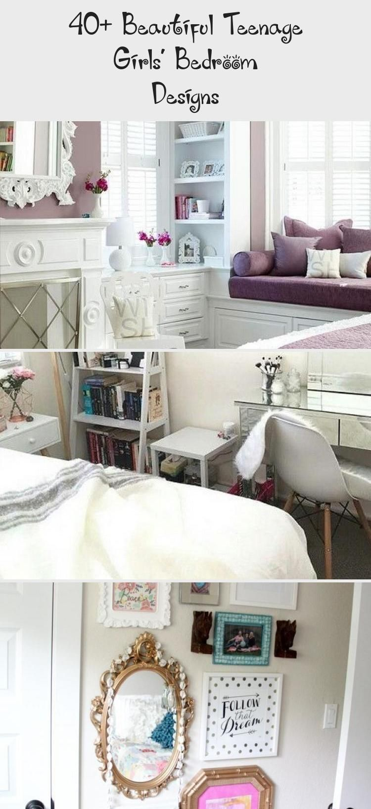40+ Beautiful Teenage Girls' Bedroom Designs #teenagegirlbedrooms