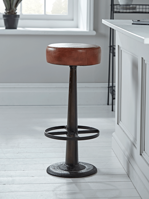 New Round Leather Bar Stool Bar Stools Kitchen Bar Stools