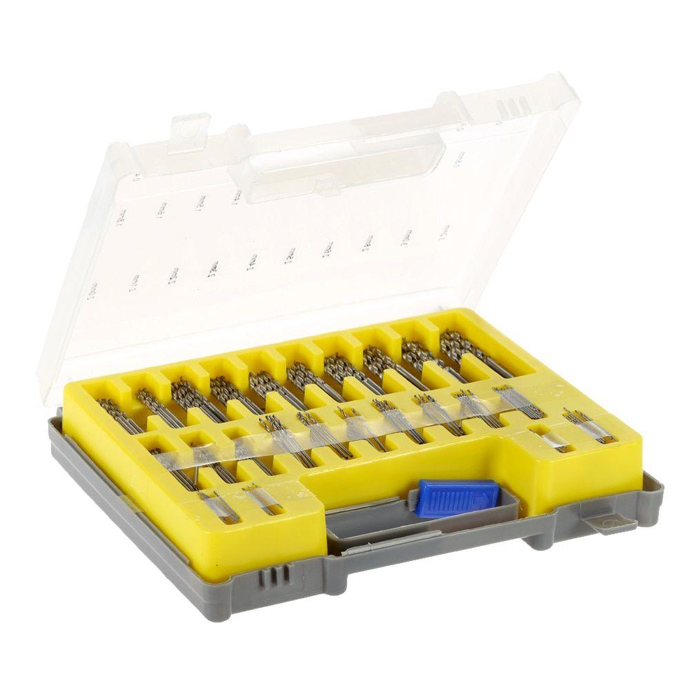 150pcs Mini Twist Drill Bit Kit 0.4-3.2mm HSS Micro Precision Twist Drill