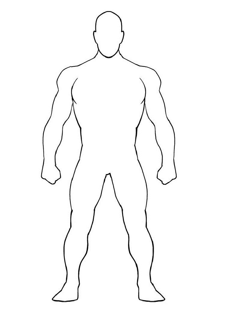 blank superhero coloring pages   Coloring Pages For Kids   Pinterest