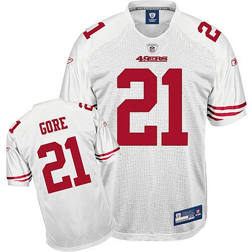 07c0caf6ee3 Reebok San Francisco 49ers Frank Gore 21 White Authentic Jerseys Sale