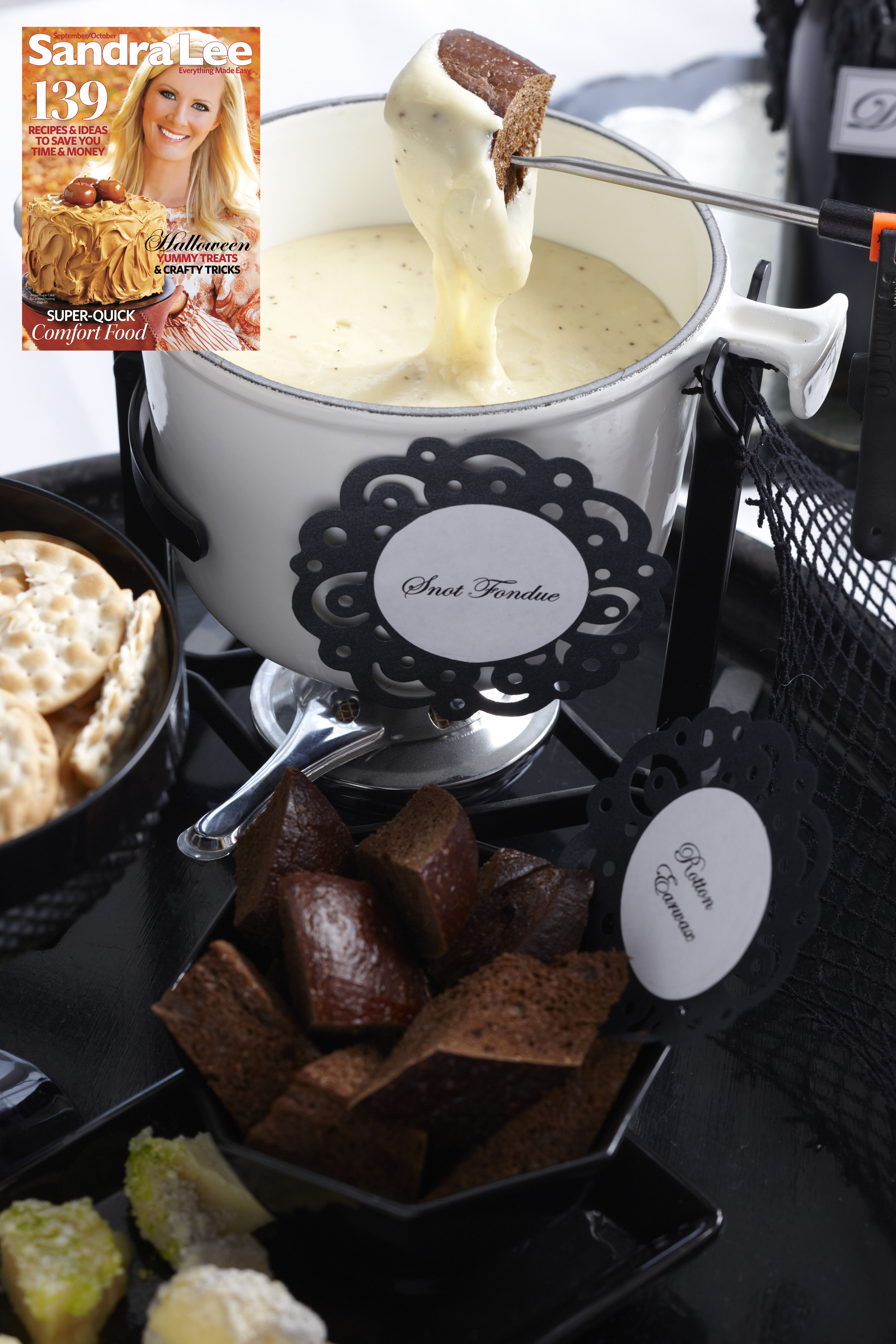 fiendish fondue from the sandra lee magazine | sandra lee halloween