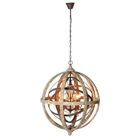 Metal And Wood Globe Chandelier Time And Tide Large Round Pendant Light Round Pendant Light Globe Chandelier
