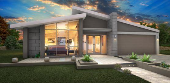 Beautiful Single Story Modern Home Design: Wonderful