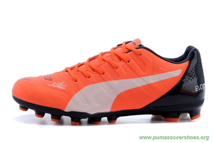 Soccer City Mens PUMA evoSPEED 1.3 XR ORANGE White BLACK AG Messi Football  Boots 776711822
