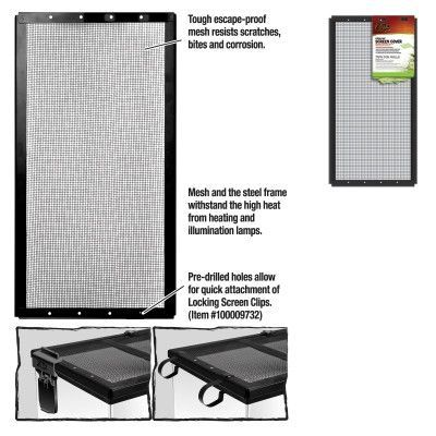 REPTILE - TANK SCREEN COVERS - SCREEN COVER METAL BLK 20X10 - - - CENTRAL - ENERGY SAVERS - UPC: 96316670112 - DEPT: REPTILE PRODUCTS
