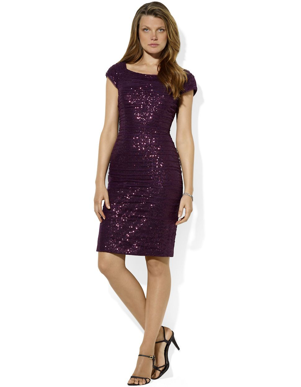 Purple Cocktail Dresses Lord And Taylor   Plus Size Masquerade Dresses